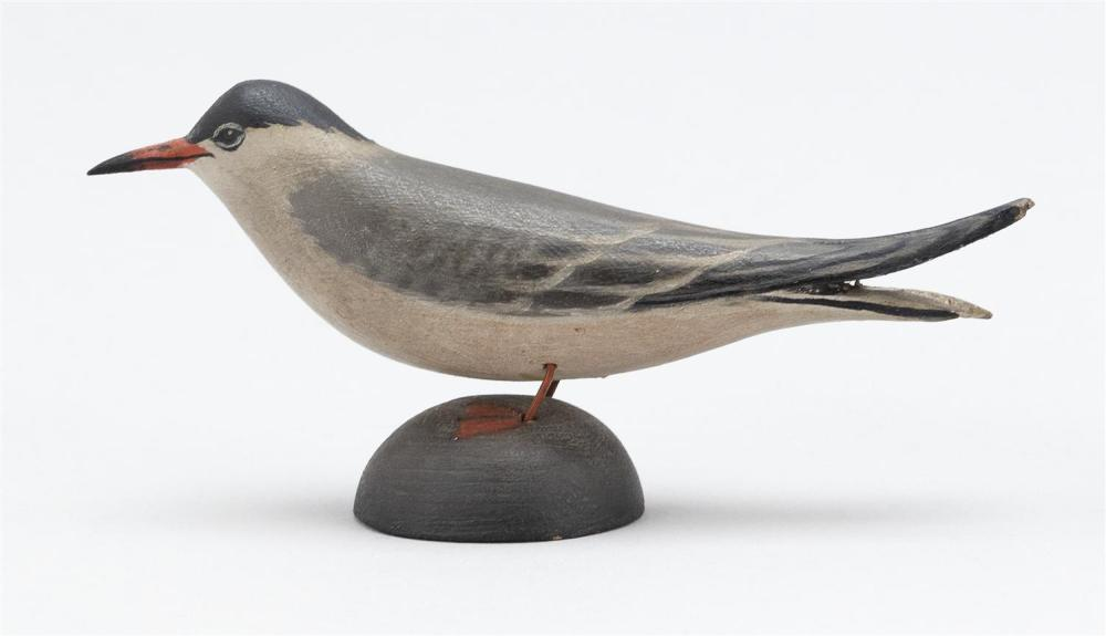 A. ELMER CROWELL MINIATURE COMMON TERN Unsigned. Length 4.25
