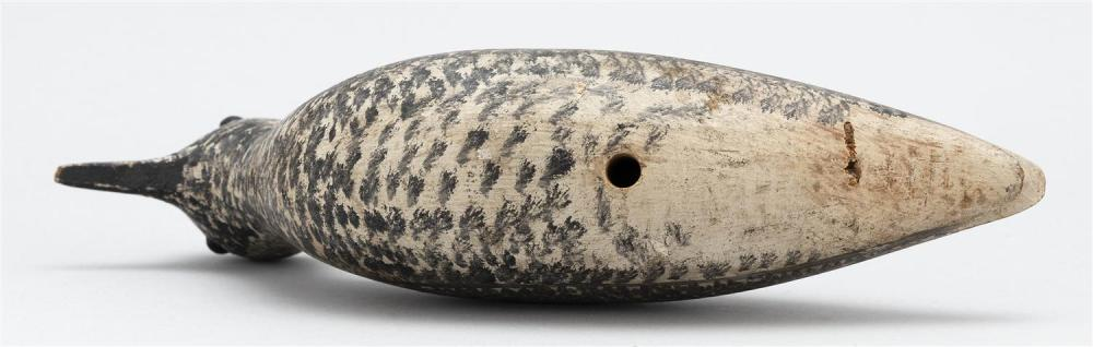 GEORGE BOYD BLACK-BELLIED PLOVER DECOY Early 20th Century. Black glass eyes. Retains superb original paint. Length 10.5