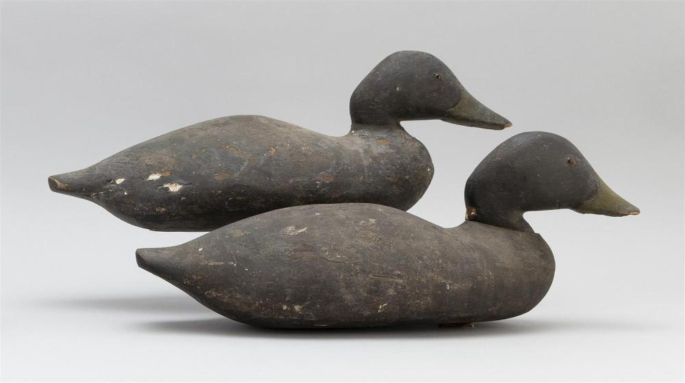 TWO DODGE FACTORY BLACK DUCK DECOYS Rig brand for