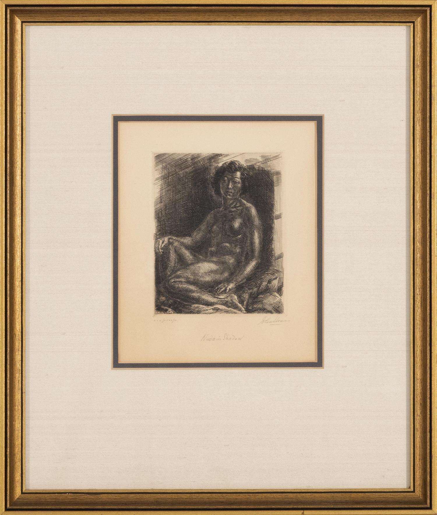 John Sloan (American, 1871-1951) Half Nude on Elbow | Sale