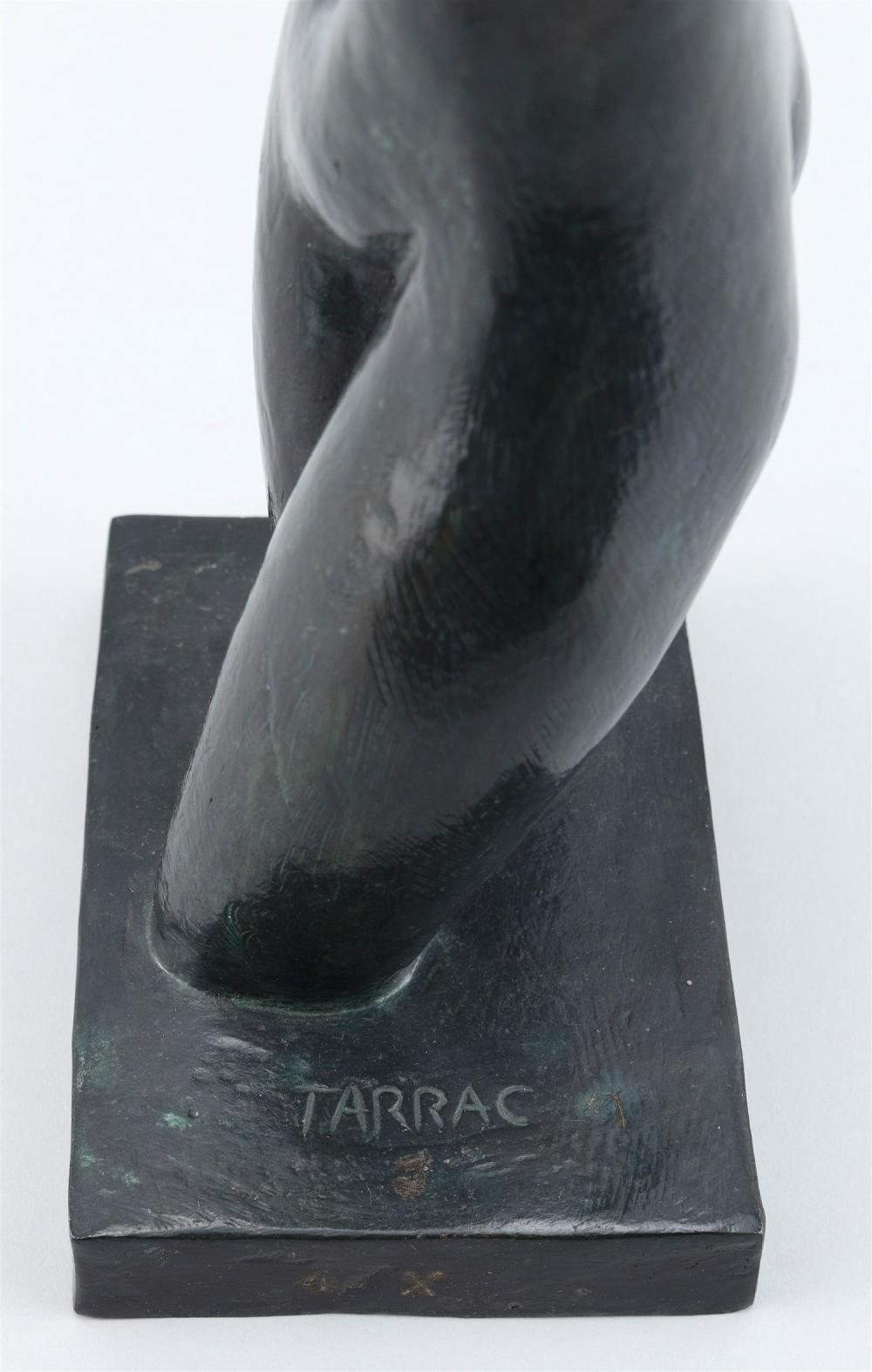 ANGEL TARRAC, Spain, 1898-1979, Female nude., Cast bronze with applied verdigris patina, height 16