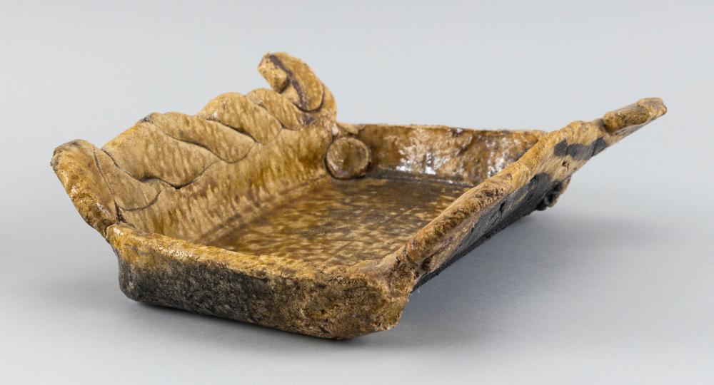 BETTY WOODMAN, New York/Colorado/Italy, 1930-2018, Studio pottery center bowl, circa 1967., Glazed earthenware, length 11