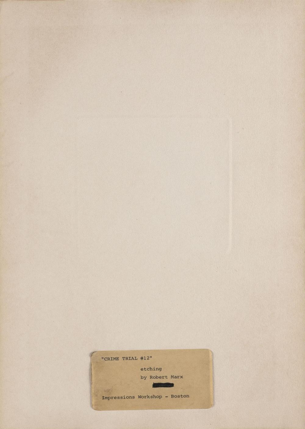 ROBERT ERNST MARX, Massachusetts/New York, b. 1925,