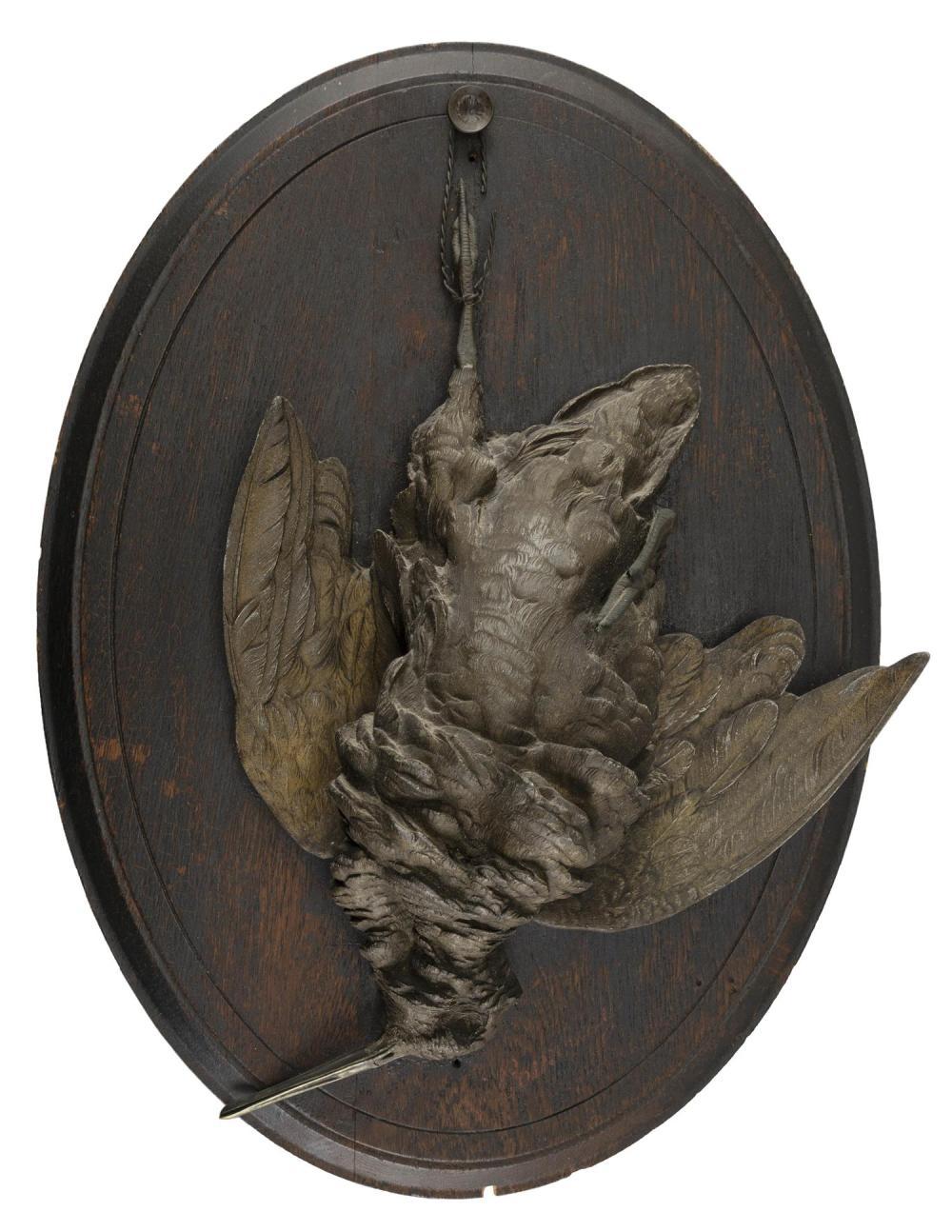 PAUL COMOLERA, France, 1818-1897, Two bird sculptures:, Patinated pot metal, 19