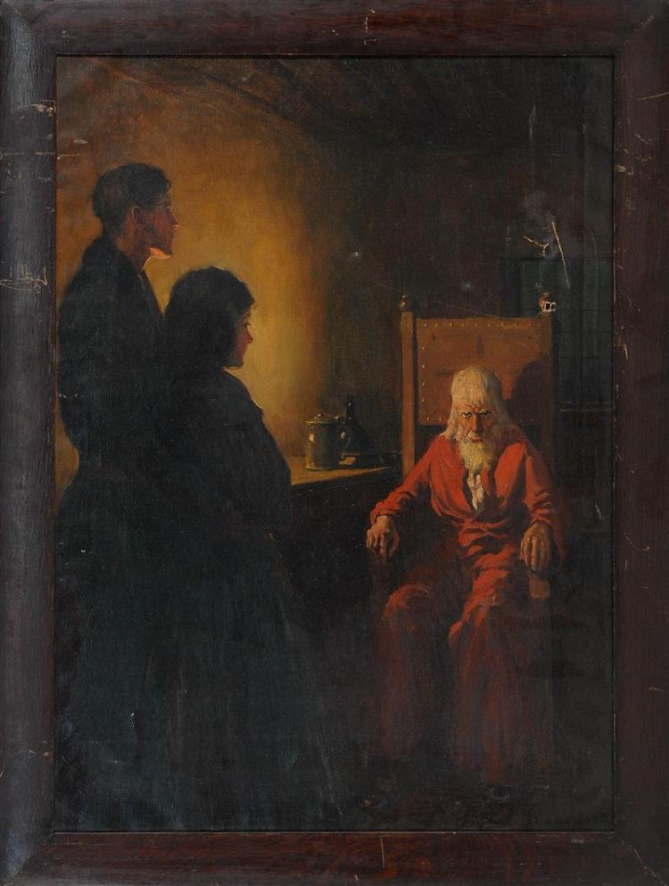 "HAROLD MATTHEWS BRETT, Massachusetts, 1880-1955, Original illustration for Lorna Doone, a Romance of Exmoor., Oil on canvas, 40"" x 2..."