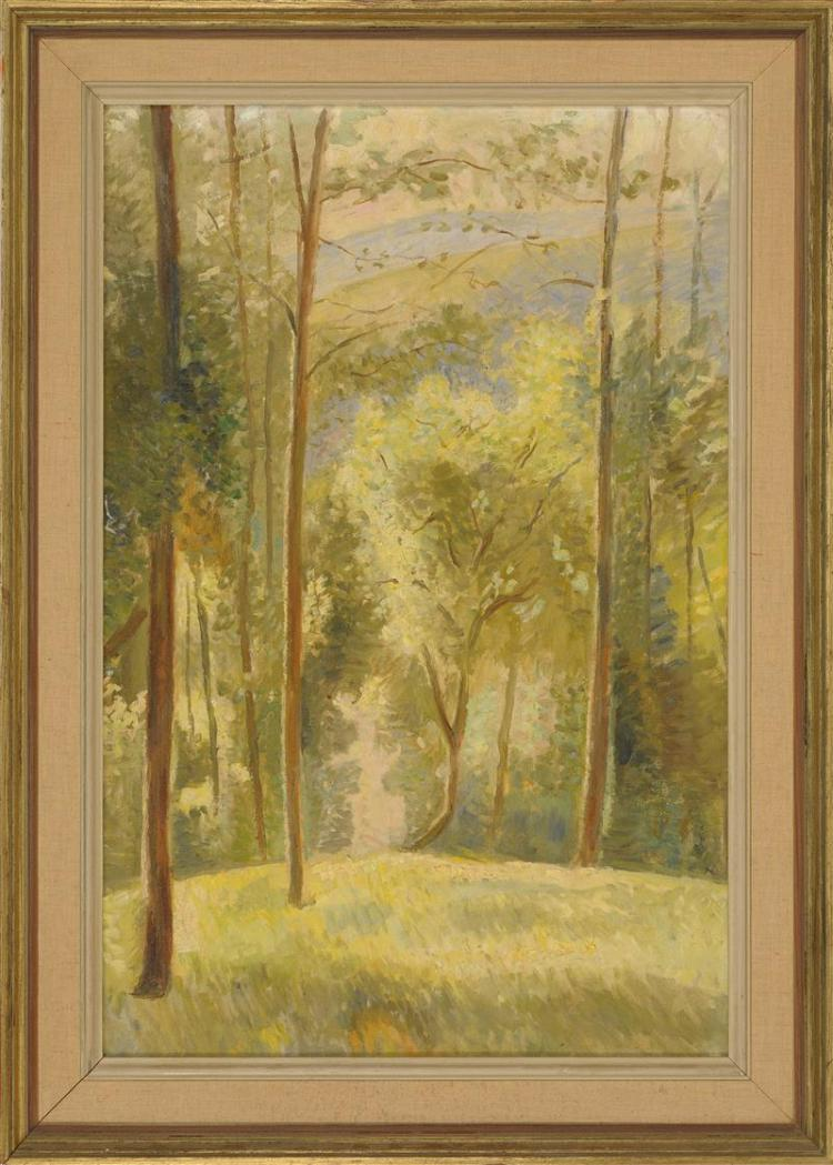 ENIT KAUFMAN, New York, 1897-1961, Two landscapes.