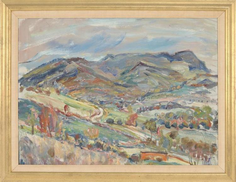 ENIT KAUFMAN, New York, 1897-1961, Two landscapes., Oils on canvas, 21