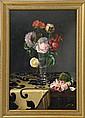 ELLEN FRANCES BURPEE FARR, American, 1840-1907, Still life of roses., Oil on board, 17¾