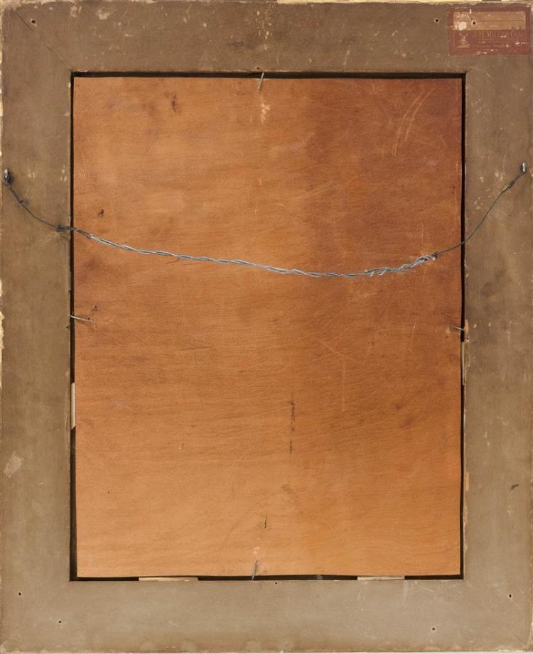 ATTRIBUTED TO EUGENIO AMUS, Continental, 1834-1899, City market scene., Oil on board, 20