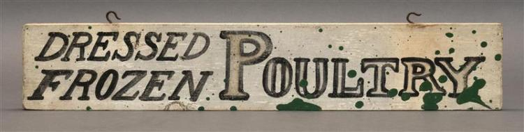DOUBLE-SIDED WOODEN SIGN
