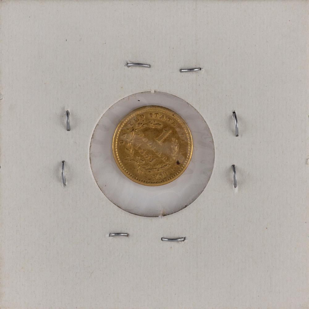 U.S. 1851 ONE-DOLLAR GOLD PIECE Type I. VF.