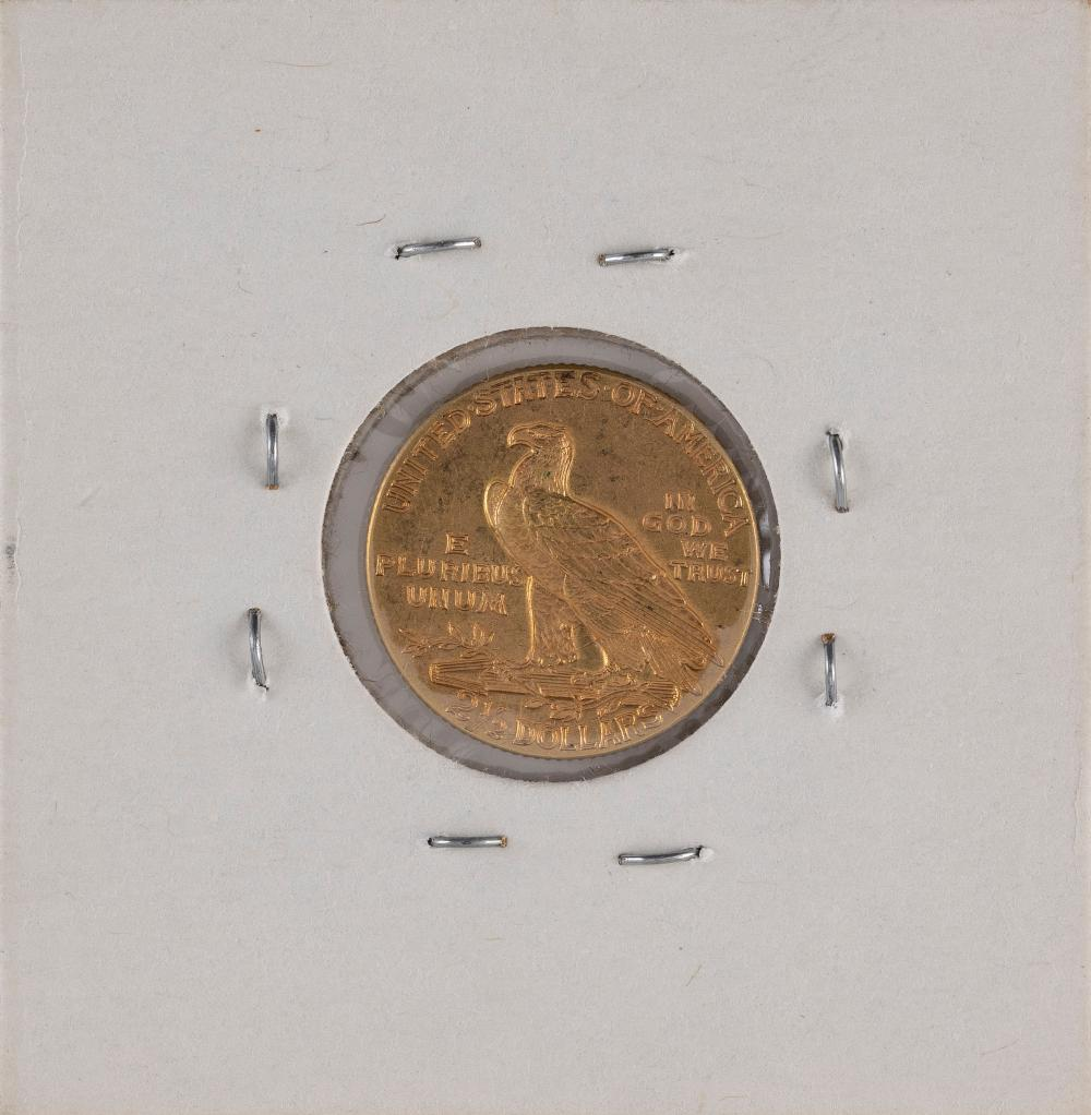 U.S. 1915 TWO-AND-A-HALF DOLLAR GOLD PIECE EF.