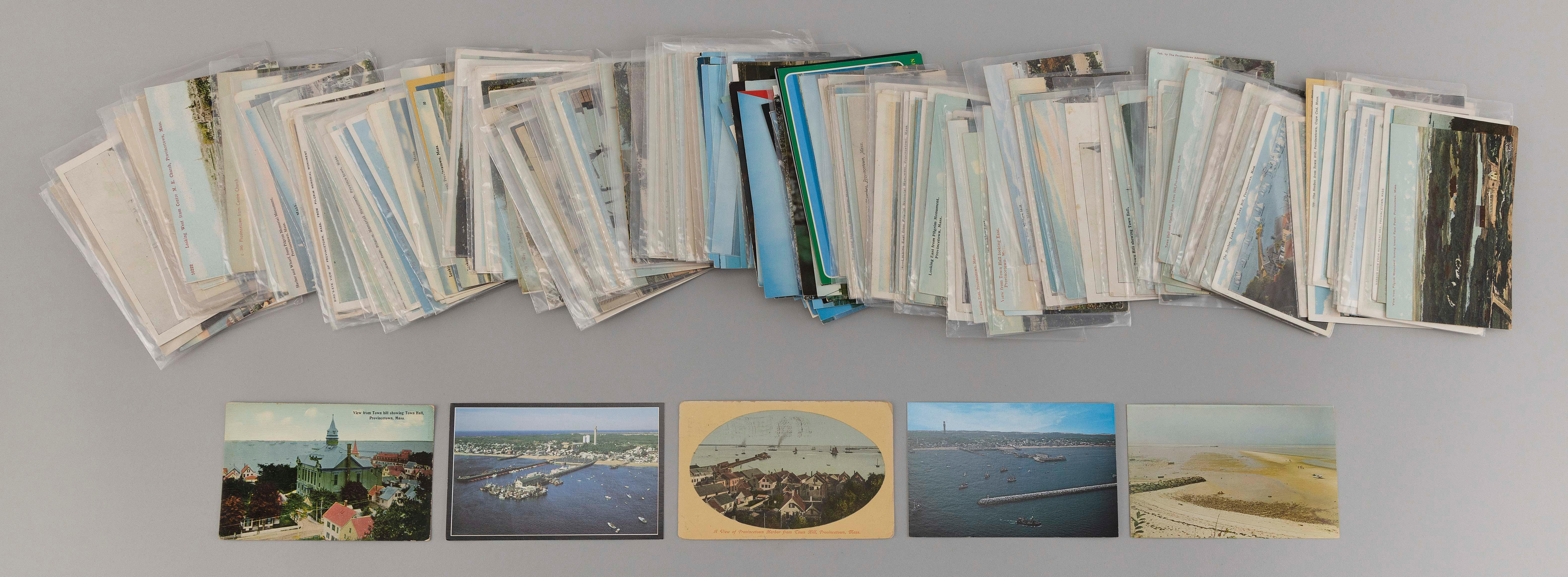 (CAPE COD: PROVINCETOWN) 222 POSTCARDS Includes 37 transportation themes, 11 railroad and 174 views from the air. Real photo: railro...