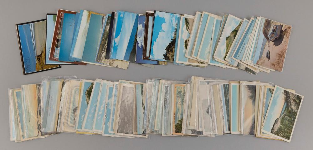 (CAPE COD: DUNES) 189 POSTCARDS Mostly Provincetown dunes, a few with figures or dune buggies. Includes the buried forest, fishback...