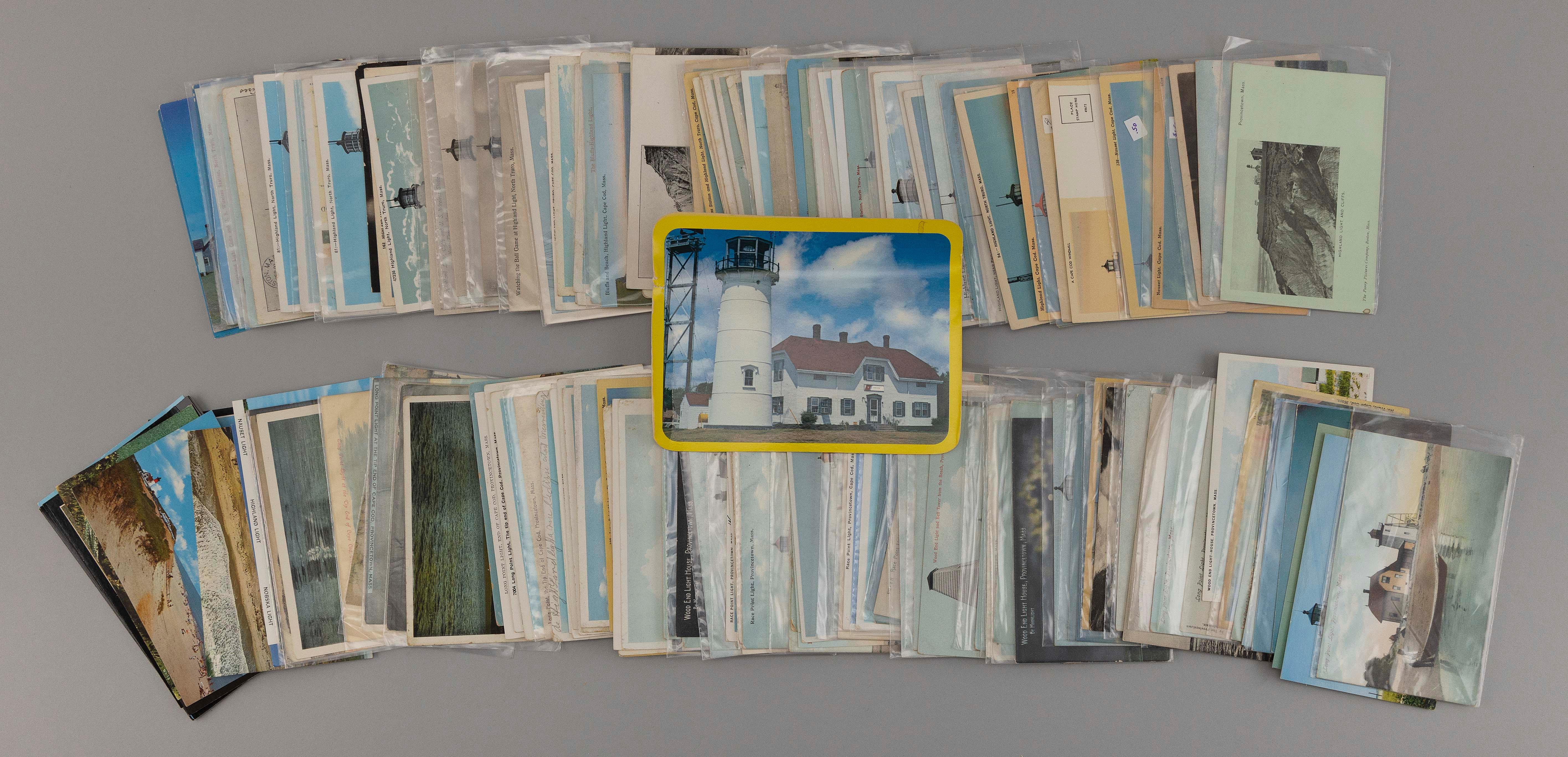 (CAPE COD: PROVINCETOWN AND NORTH TRURO LIGHTHOUSES) 210 POSTCARDS 119 Provincetown: Race Point Light, Wood End Light, Long Point Li...
