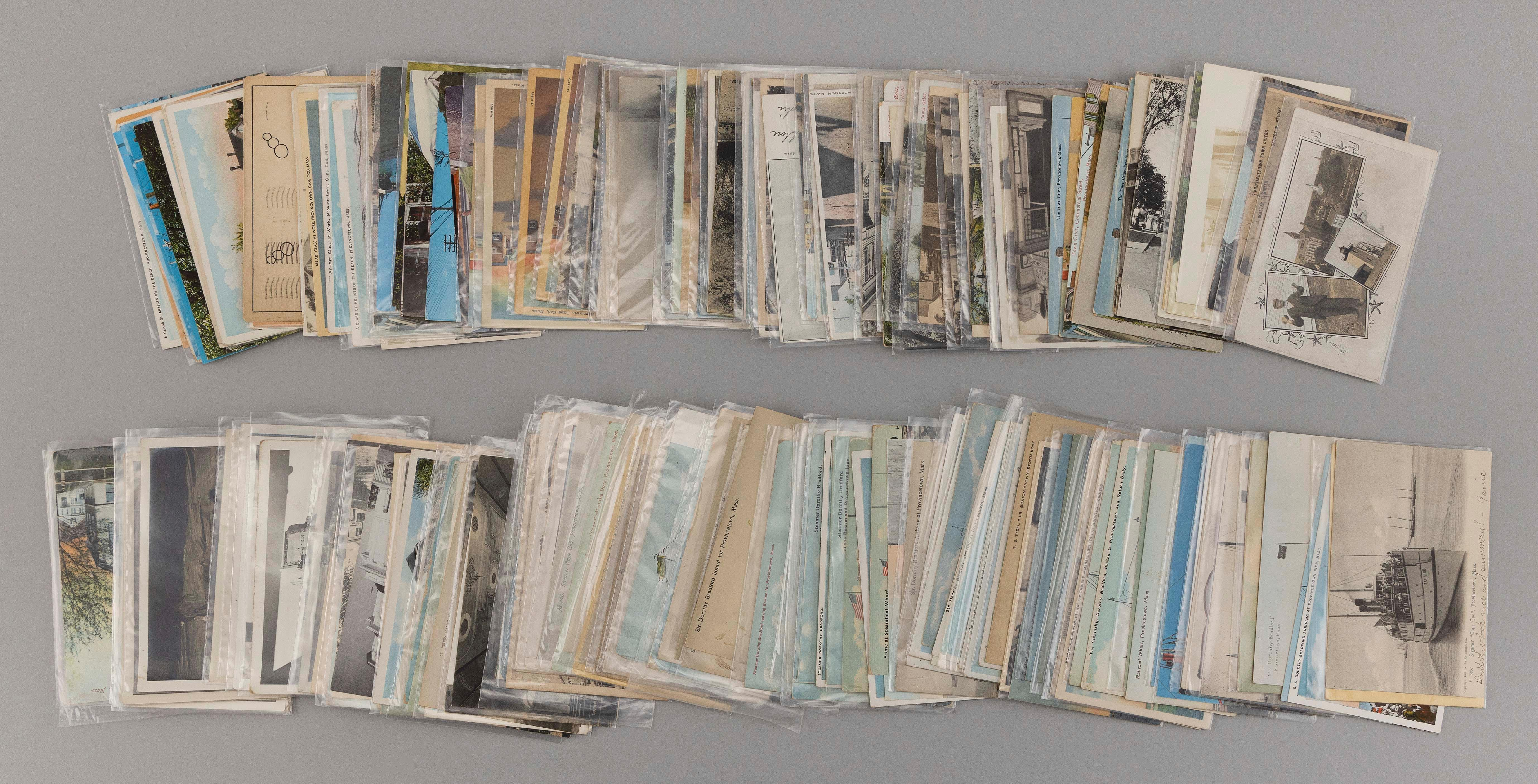(CAPE COD: PROVINCETOWN) 206 POSTCARDS Includes 28 Artists, 75 town crier, 64 Boston boats and ferries and 39 churches. Of note: two...