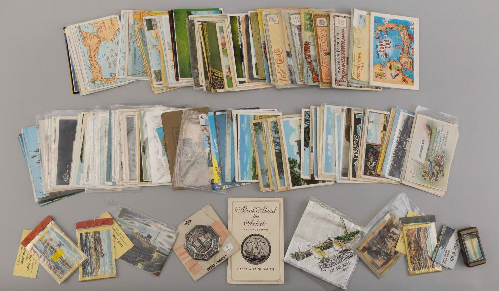 "(CAPE COD: WINDMILLS, MAPS & MISCELLANEOUS) 204 POSTCARDS AND SOME EPHEMERA ITEMS Early: Wianno Pavilion & Bathing Beach, ""Bringing..."