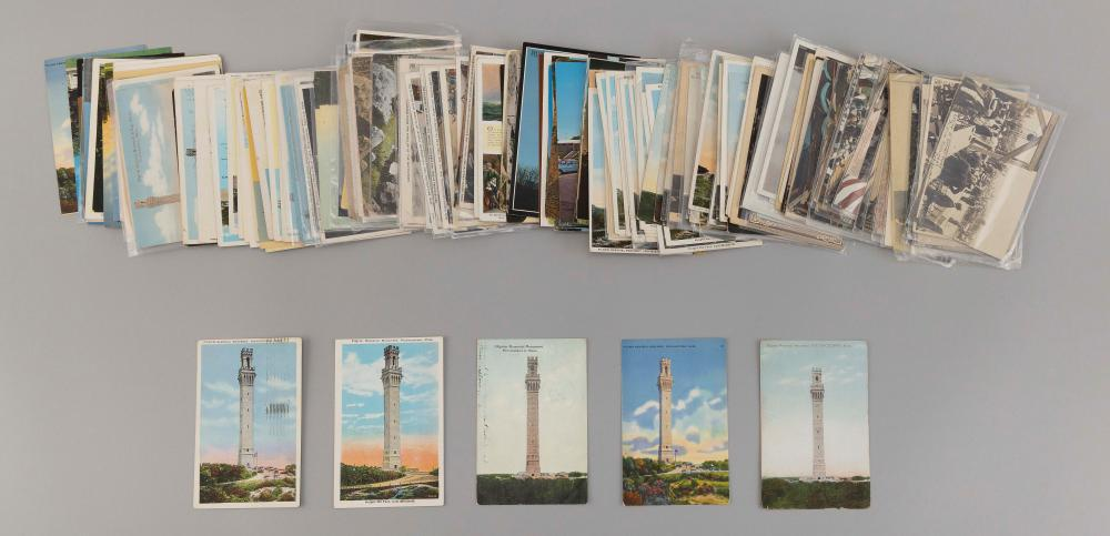(CAPE COD: PROVINCETOWN) 183 POSTCARDS Includes 28 Teddy Roosevelt 1907 cornerstone laying at the Monument, 121 Pilgrim Monument and...