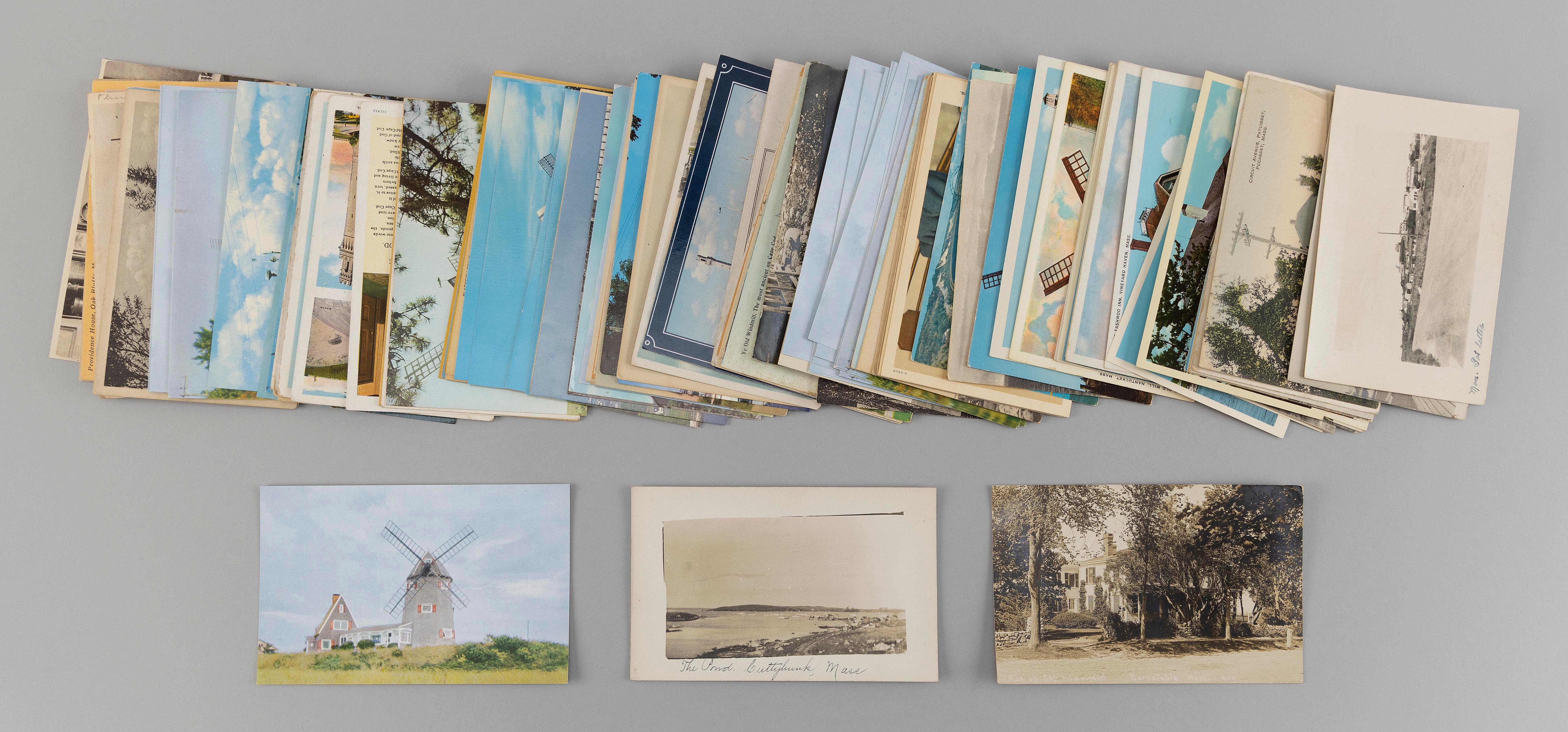 (CAPE COD AND ISLANDS) 123 POSTCARDS Majority of Cape Cod with some dupes. Early: Main St., Edgartown, Chamberlain of Ocean Park in...