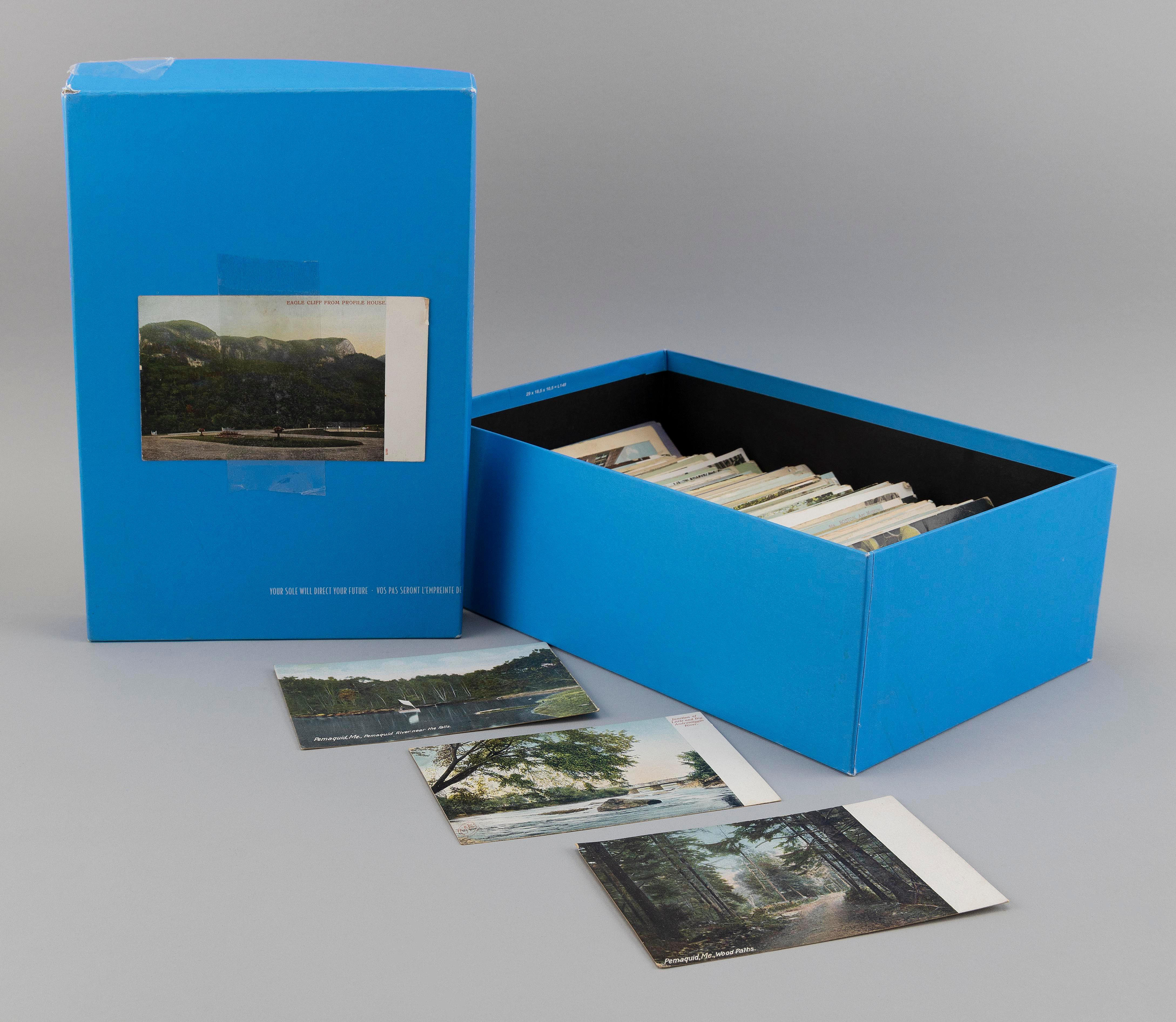 (MISCELLANEOUS U.S. VIEWS) 375 POSTCARDS Contained in a shoebox. Many Massachusetts and New England, and a few topical and foreign....