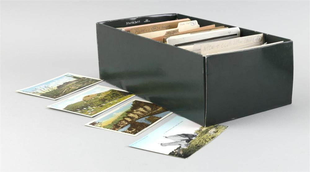 (TOPICAL: MINIATURES THROUGH ROCK FORMATIONS) APPROX. 859 POSTCARDS Contained in a box. Includes 160 miniature cards, some Cape Cod...