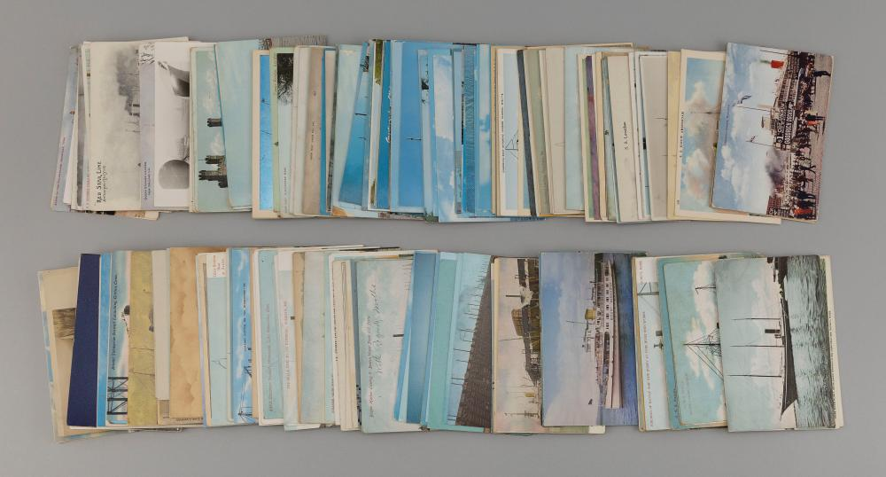 (TOPICAL: SHIPS) APPROX. 227 POSTCARDS Good selection of shipping, pleasure craft and a few military subjects. Of note: inland steam...