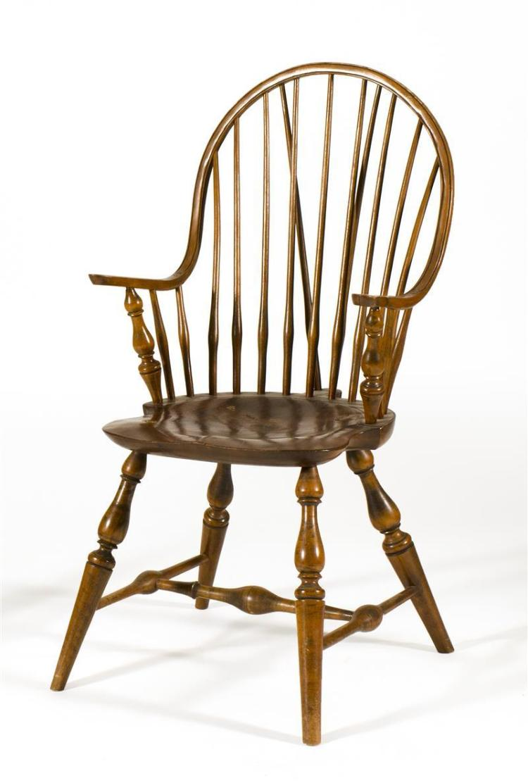 Windsor Arm Chairs ~ Antique american windsor continuous arm chair in maple and a