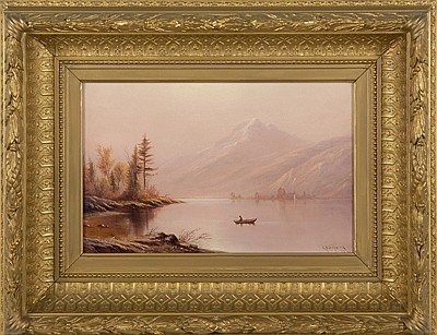CHARLES HENRY GIFFORD, American, 1839-1904, Lake and Mountain in Autumn., Oil on canvas, 9