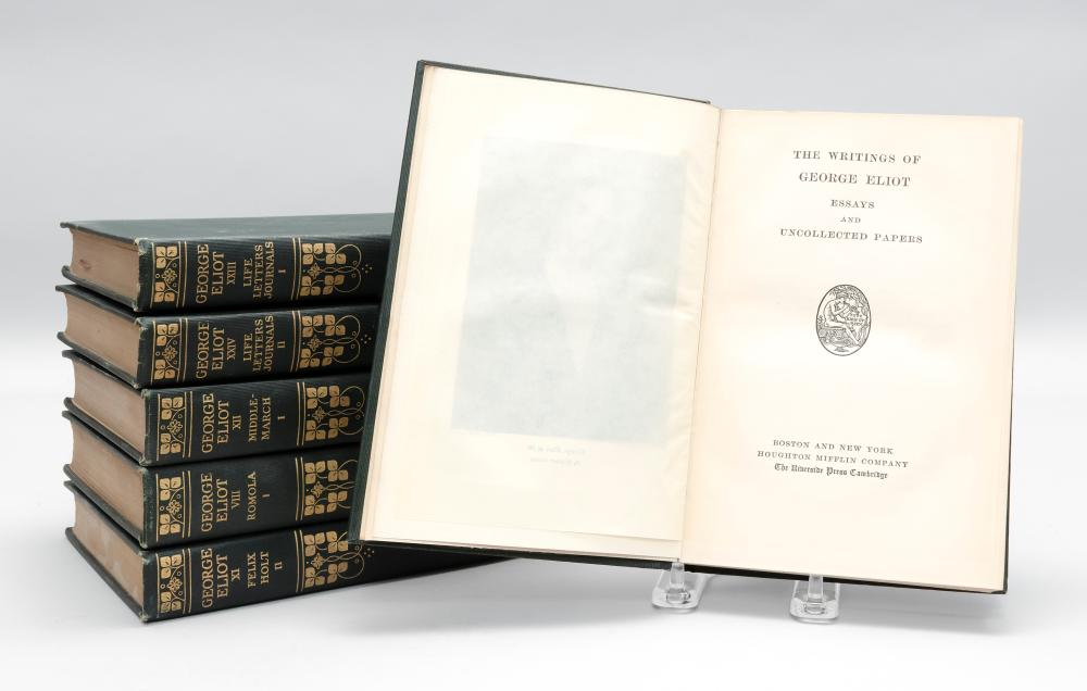 THE WRITINGS OF GEORGE ELIOT The Writings of George Eliot, Together With the Life By J. W. Cross (Boston and N.Y.: Houghton Mifflin...