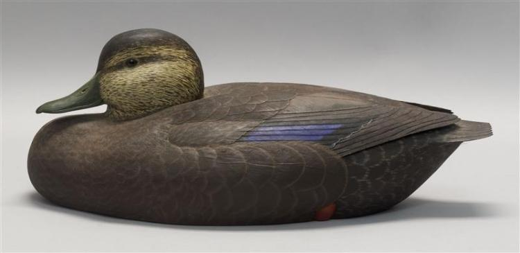 Robert Brophy Decorative Black Duck Decoy Signed And Dated I