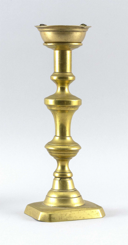 """BRASS PEG LAMP Height 10.5""""."""