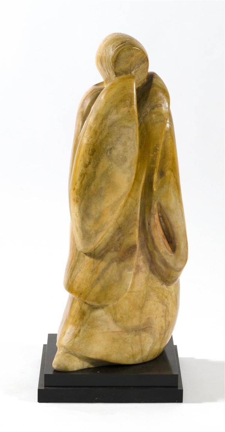 RITA MEDOFF, Swiss, 1928–2009, Carved sandstone figure, Sculpture, height 25