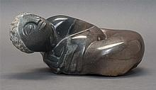 MORGAN CHIJUMANI, Zimbabwe, b. 1974, Black stone carving of a mermaid., Sculpture, length 11