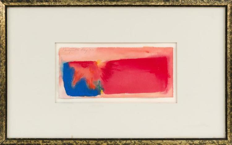 NANCY TUTTLE MAY, North Carolina, Contemporary, Abstract with blue and red masses, Watercolor, 5