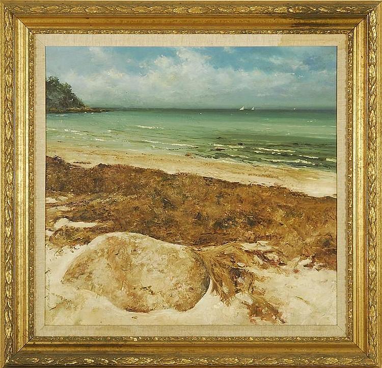 JAN COLLINS SELMAN, American, Contemporary, Cape Cod Coastal scene., Oil on canvas, 27
