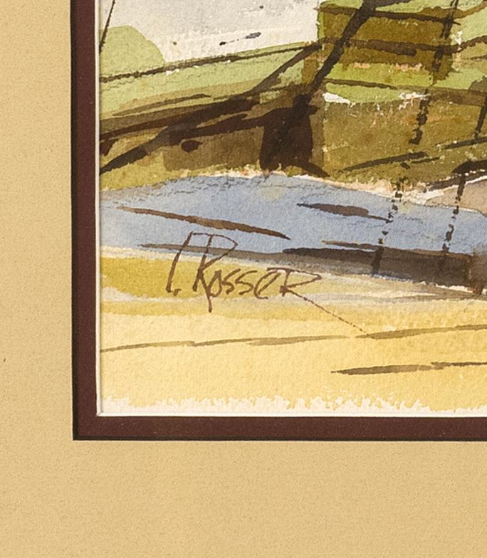 CURTIS ROSSER, Massachusetts, 1927-2005, The old fishing boat., Watercolor on paper, 14