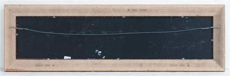 JEROME HOWES, New York/Massachusetts/Vermont, b. 1955, The Rainbow Fleet., Oil on masonite, 8
