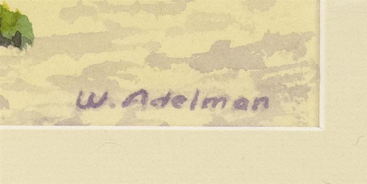 WILLIAM J. ADELMAN, JR., American, 1928-2014,