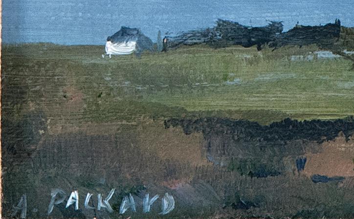 ANNE PACKARD, Massachusetts/New Jersey, b. 1933, Corn Hill, Truro., Oil on masonite, 4