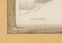 ROBERT DOUGLAS HUNTER, Massachusetts, 1928-2014, Five pencil drawings of dune scenes., On paper, approx. 4