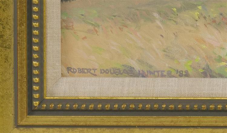 ROBERT DOUGLAS HUNTER, Massachusetts, 1928-2014, Fort Hill, Eastham., Oil on canvas, 8