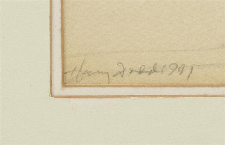 HARVEY DODD, Massachusetts, 1933-2011, Shoreline., Watercolor on paper, 5.5