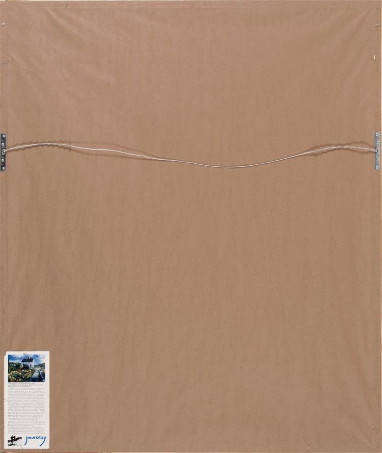 JULIA KELLY, Cape Cod, Contemporary, Captain Jack's Wharf, Provincetown, Massachusetts., Watercolor on paper, 29