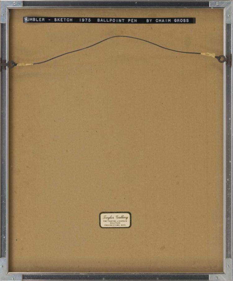 CHAIM GROSS, New York/Massachusetts, 1904-1991, Two nudes., Ink on paper, 14