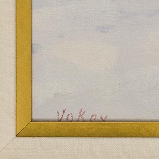 SAM VOKEY, Massachusetts, b. 1963, Old South Church, Back Bay, Winter., Oil on canvas, 30