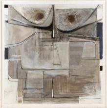 """VICTOR CANDELL, New York/Hungary, 1903-1977, """"Unison""""., Oil on canvas, 39"""" x 39"""". Framed 41.5"""" x 41.5""""."""