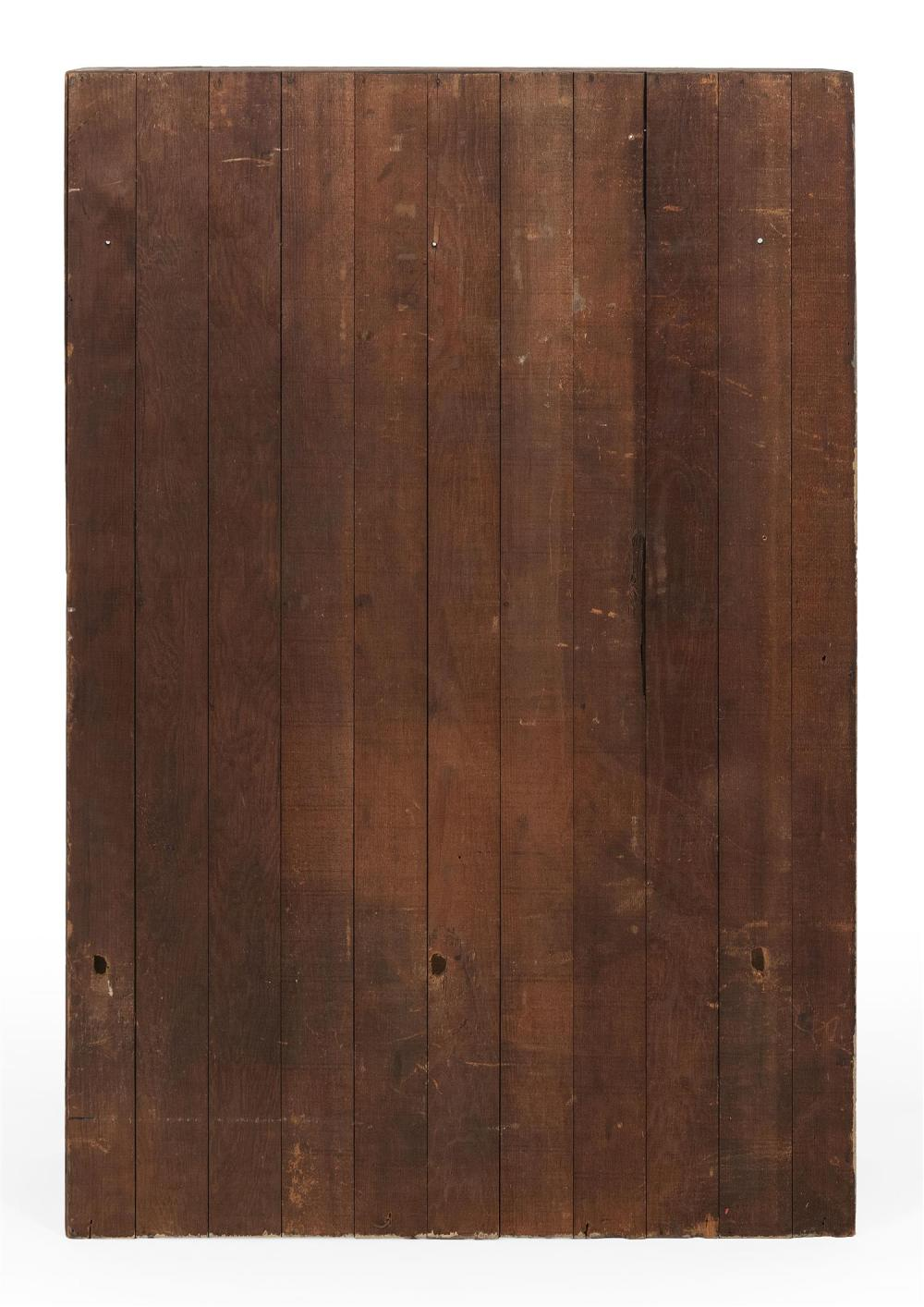 Lot - POST OFFICE CUPBOARD In pine, with traces of white paint