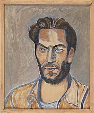 "JOHN CRAMPTON NICHOLS, American, 1899-1963, ""Man with Beard - Henry Miller""., Oil on canvas, 20"" x 16"". Framed."