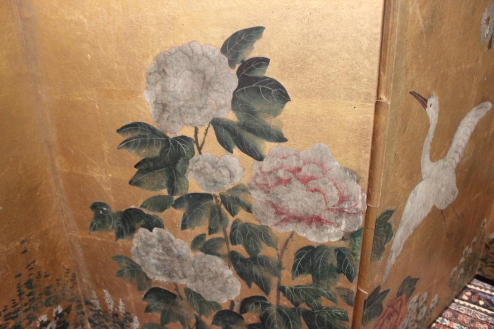 JAPANESE SIX-PANEL SCREEN Late Meiji Period Height 55.5
