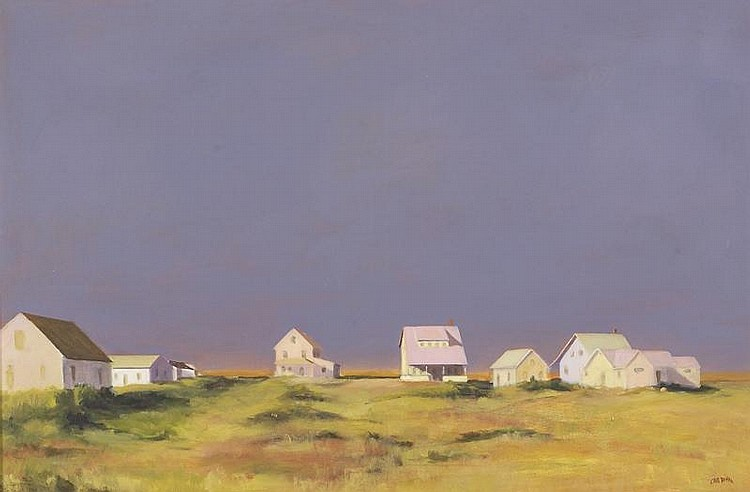 ROBERT CARDINAL, American, Contemporary, Summer cottages, Cape Cod., Oil on canvas, 24